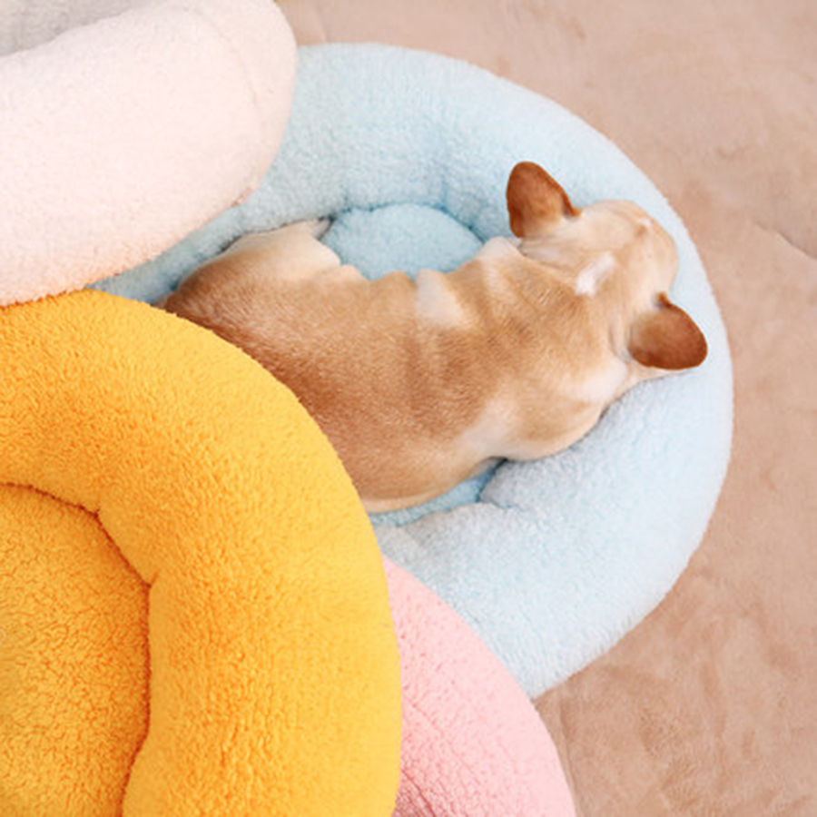 Pet Warm Nest Kennel Round Dog Bed Sofa Puppy Pads Chihuahua Bed For Medium Dogs Home Cat Winter Tents Calentita Pet Shop 30GW01
