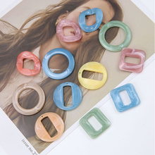 2pcs simple korean girl cute earrings geometry hollow square opening pendant for women diy handmade jewelry accessories