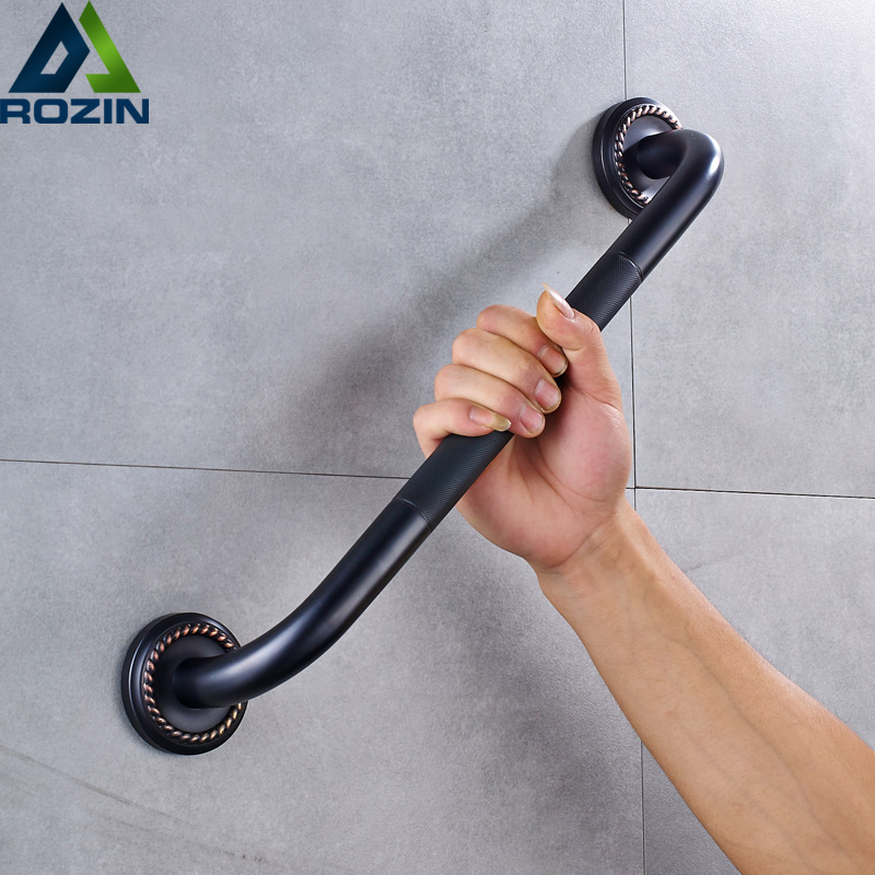 Free Shipping Bathroom Grab Bar for Elderly Black Bronze Shower Safety Helping Handle Wall Mounted Toilet Bathtub Handrail grab bars gold brass wall mounted bathroom armrest handle bathtub grab bar toilet elderly handrail home safety grab bar og 51 35
