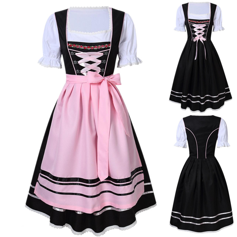 Womens Oktoberfest Dirndl Costume German Dress