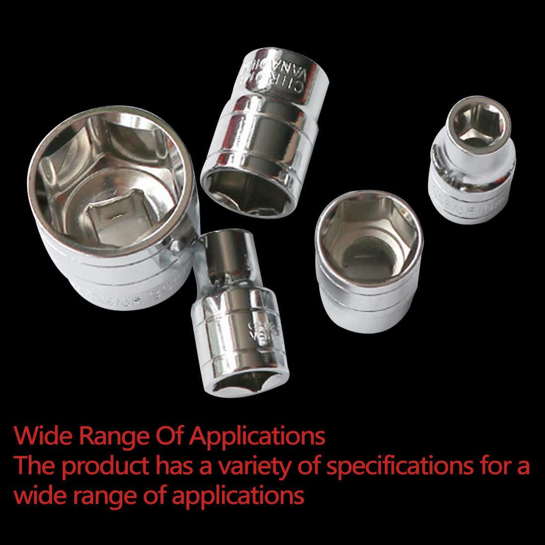 14mm-24mm iç altıgen anahtarı cırcır lokma anahtar kafa kol çift uçlu Mini kısa sökülebilir tork