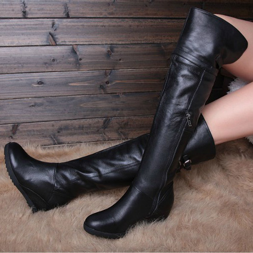 buying cheap high fashion brand new winter boots for teenage girls Winter women's shoes wedges ...