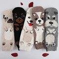 Конфеты цвет прекрасный собак Милый мультфильм сокс Осень Summer Южнокорейских женщин Мода Хлопок трубка Носки meias soks