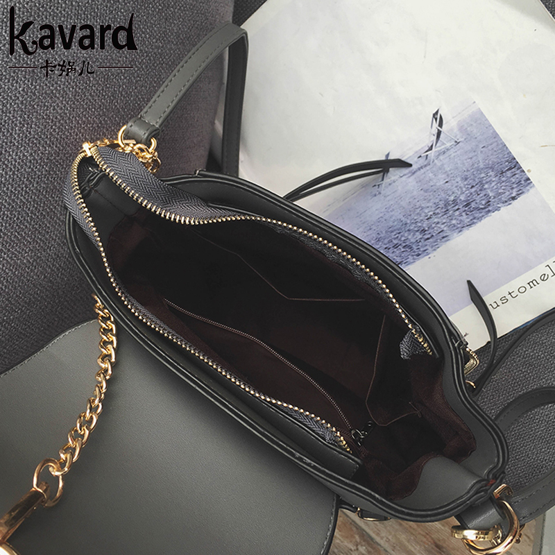 Kavard Women Shoulder Bag Design Famous Brands High Quality Matte Pu Leather Handbag With Ring Chain Small Female Daily Clutches In Bags From