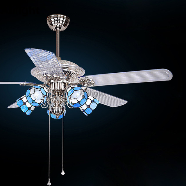 Led e27 tiffany iron glass ceiling fans lamp hanging light led e27 tiffany iron glass ceiling fans lamp hanging light suspension fixtures for foyer bedroom dining mozeypictures Images