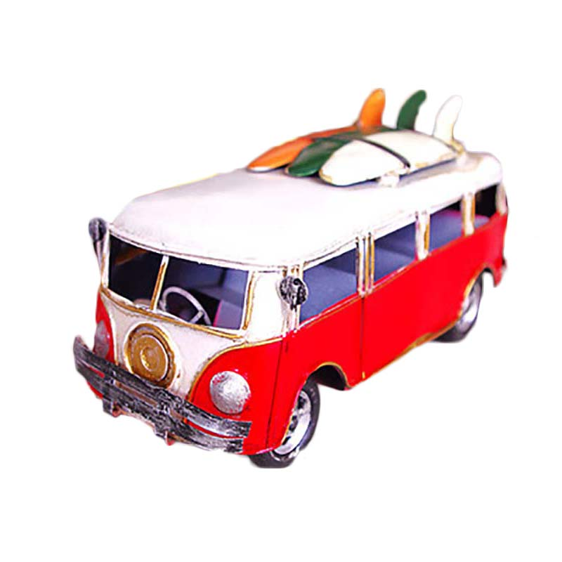 new 185cm toy vehicles vintage mini car model toys muiltcolor bus metal classic car model toy for birthday giftcollectionkids