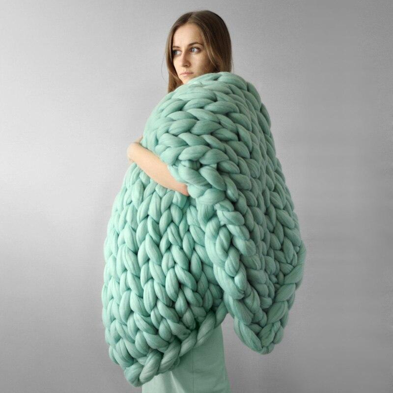 500g Super Thick Chunky Yarns For Knitting Merino Wool Yarn 6 CM Thick Cheap Yarns For Hand Knitting Blanket Crochet