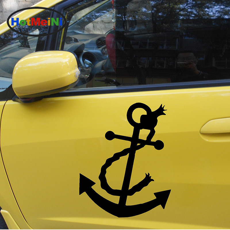 HotMeiNi 2 X Anchor Tremendous Brilliant Large Oceangoing Sailboat Car Stickers Door Kayak Canoe Car Cover Vinyl Decal 9 Colors