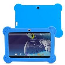Nueva llegada de 7 pulgadas Tablet PC 8 GB Q88 Android 4.4 Dual core y Dual Camera1024 x 600 de la Pantalla Táctil con Funda de Silicona (azul)