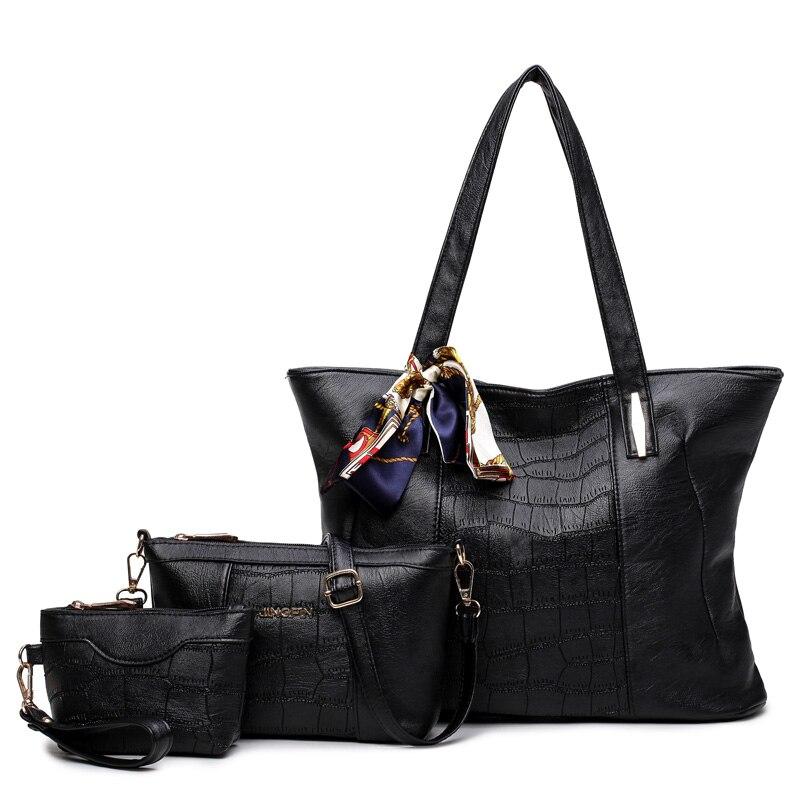 ФОТО 2016 Women Bag PU Leather Handbags Brand Women Composite Bags Set Ladies Handbag Messenger Bag Female Shoulder Bags Clutch 1700
