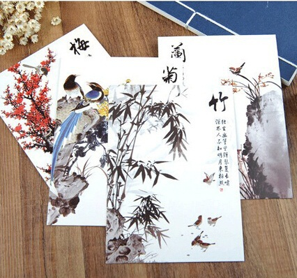 Hot selling business cards diy retro japan ink painting postcard set hot selling business cards diy retro japan ink painting postcard set with qr codeeeting m4hsunfo