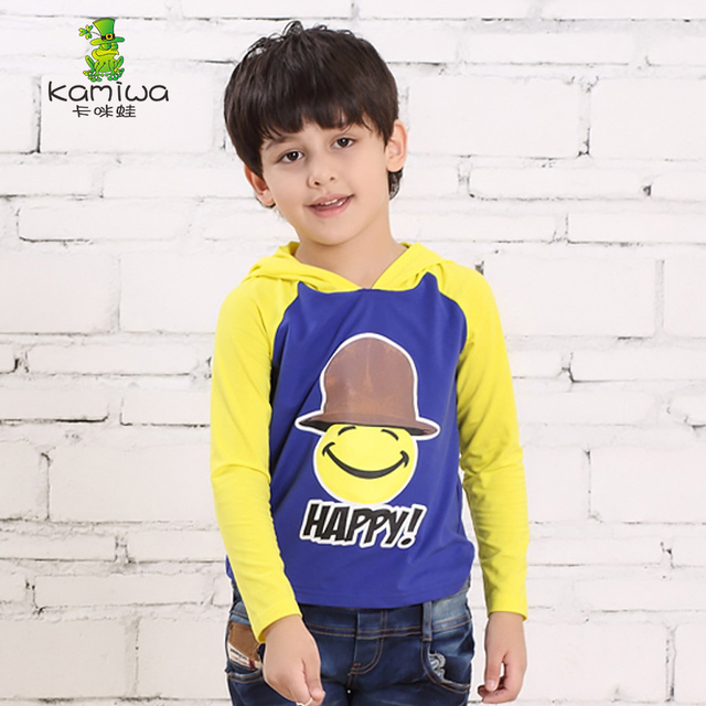Kamiwa 2016 New Spring Autumn Baby Boys Teen Cartoon Fleece Hoodies Character Full Cotton Coat Children's Clothing Kids Clothes