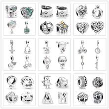 Новая Оригинальная Милая семейная подвеска Pandora Подвески Серебро 925 браслет ожерелье брелок DIY женские ювелирные изделия