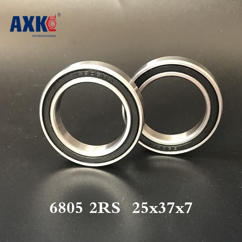 2019 Direct Selling Limited Ball Bearing Rolamentos 6805 2rs Abec-1 (10pcs) <font><b>25x37x7</b></font> Metric Thin Section Bearings 61805rs <font><b>6805rs</b></font> image