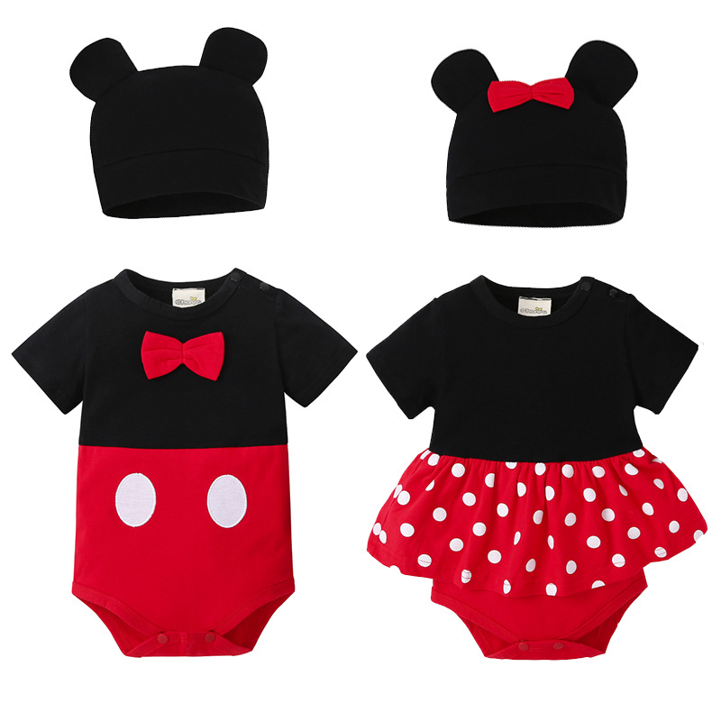 ©Teenster Baby Bodysuit Twins Mickey Style Infant Boy Costume ...