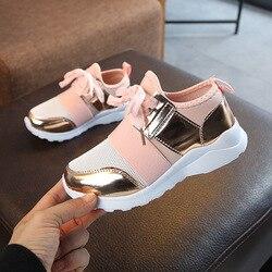Crianças sapatos crianças tênis meninas esporte sapatos de moda tênis anti deslizamento rosa cross-amarrado criança tênis casuais sapatos planos d30