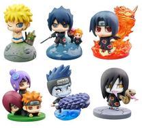 JHACG 4-6cm 6pcs/set Naruto Uchiha Sasuke Orochimaru Uchiha Itachi Akatsuki Action figure toys doll Christmas gift no box