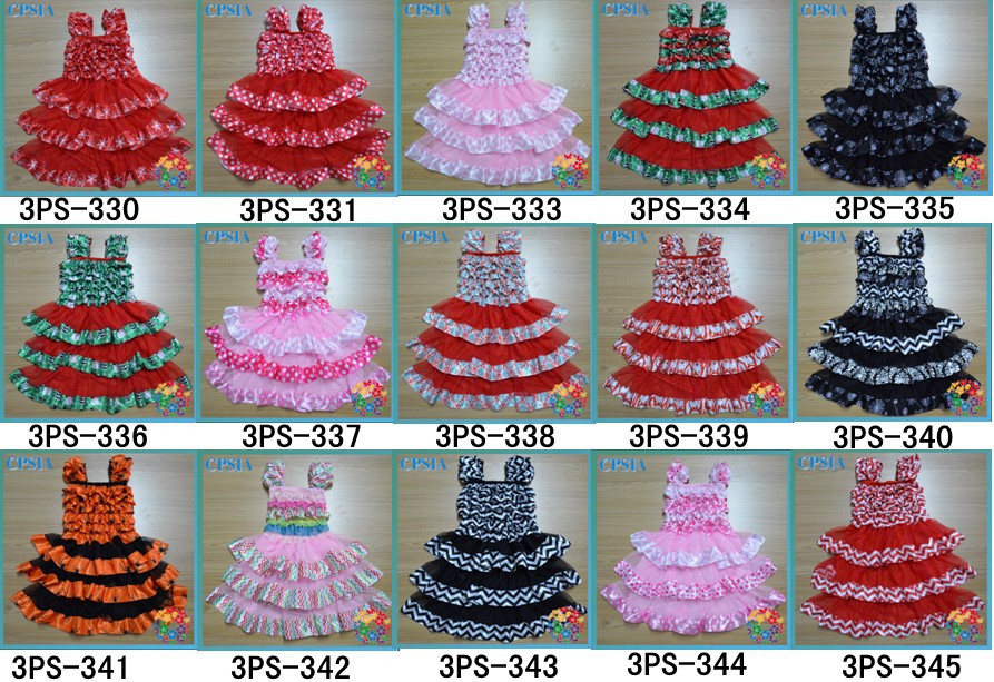 24pcslot Hot Sale Latest Fashion Birthday Dress For Baby Girl