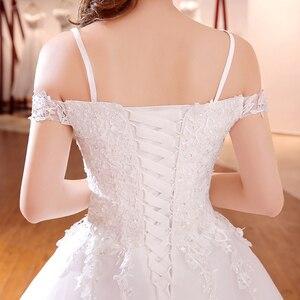 Image 5 - Elegante Eenvoudige Kant Trouwjurk Vlnuo Nisa Luxe Boothals Hof Trein Vestido De Novia Baljurk Real Photo Bruid jurk 20