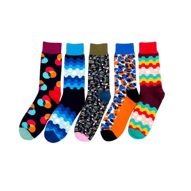 Underwear & Sleepwears Creative High Quality Autumn Cotton Tube Male Mens Sock Street Style Hiphop Crew Socks Harajuku Fashion Hombre Designer Skateboard Sock 50% OFF