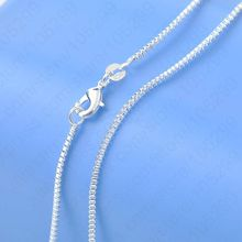925 Sterling Silver Box Chain For Women necklace Smple Casual Jewelry 16-30 Inch Wholesale Dropshipping Retail Accept(China)