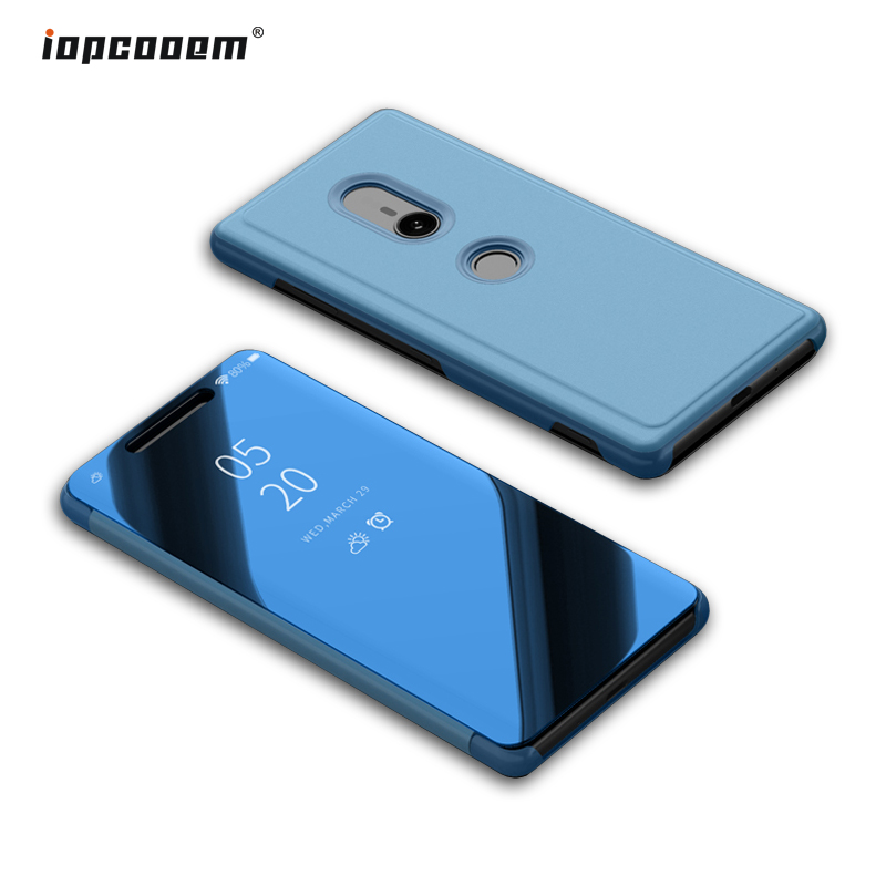 Smart <font><b>Mirror</b></font> View <font><b>Case</b></font> For <font><b>Sony</b></font> <font><b>Xperia</b></font> <font><b>XZ3</b></font> Luxury Leather <font><b>Flip</b></font> Shell <font><b>Stand</b></font> For <font><b>Sony</b></font> <font><b>XZ3</b></font> Cover <font><b>Phone</b></font> <font><b>Cases</b></font> Coque image