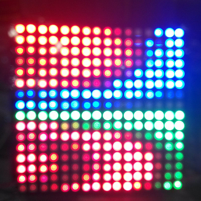 ФОТО 1PCS 5V 16*16 5050 RGB WS2812B Pixel Addressable Ragid Hard LED Panel Screen 256Pixels Black Board LED Digital RGB For Hotel