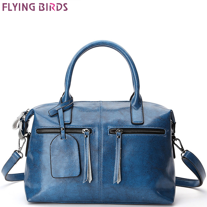 FLYING BIRDS Genuine Leather Bags For Women Famous Brand Shoulder Bags Solid Designer Handbag High Quality tote Big Female LM214 цена
