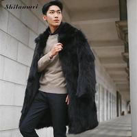 Mens Faux Fur Coats Jacket 2017 Winter Men Black Plus Size 3xl Thick Fake Fur Coat