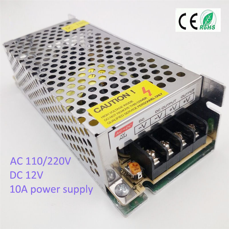 120W 10A DC12V Power Supply led Lighting transformer Voltage The for RGB Strip Light Driver font