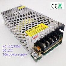 120 W 10A Voltaje de La fuente de Alimentación de DC12V llevó el transformador de Iluminación para la Luz de Tira del RGB Controlador de Conmutación de alimentación Tira de luz suply