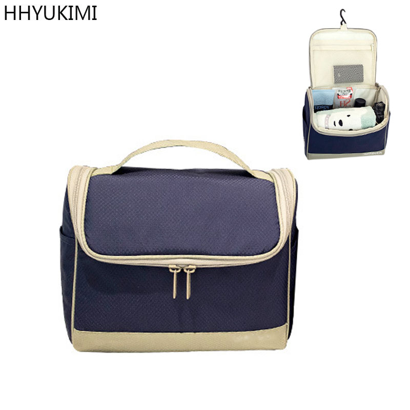 HHYUKIMI Brand Oxford Hanging Cosmetic Bag Waterproof Washbag Men For Women Travel Portable Makeup Bag Wash