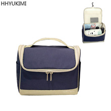 HHYUKIMI Brand Oxford Hanging Cosmetic Bag Waterproof Washbag Men For Women Travel Portable Makeup Bag Wash Toiletry Organizer