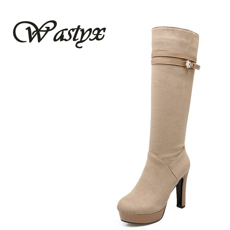 New Women Boots Suede Sexy Fashion Over the Knee Boots Sexy Thin High Heel winter warm bottine Platform round toe Woman Shoes new 2014 flock suede high heel women boots brand over knee high heel boots for women fashion designer women shoes