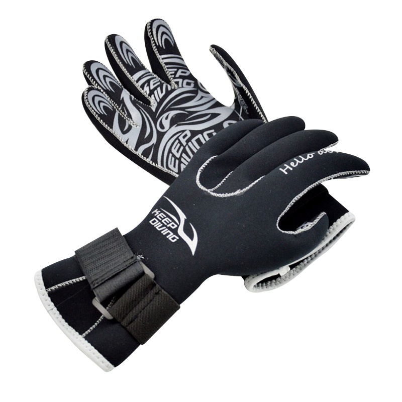 Hot!! Swming & Diving Gloves Equipment 3MM Anti Scratch Keep Warm Wetsuit Material Winter Sw Spearfishing New Rn