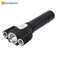 Lumiparty Перезаряжаемые CREE T6 и 2 x XPE супер яркий фонарик лампы 4 режима 18650 Батарея питание (не в комплекте) кемпинг