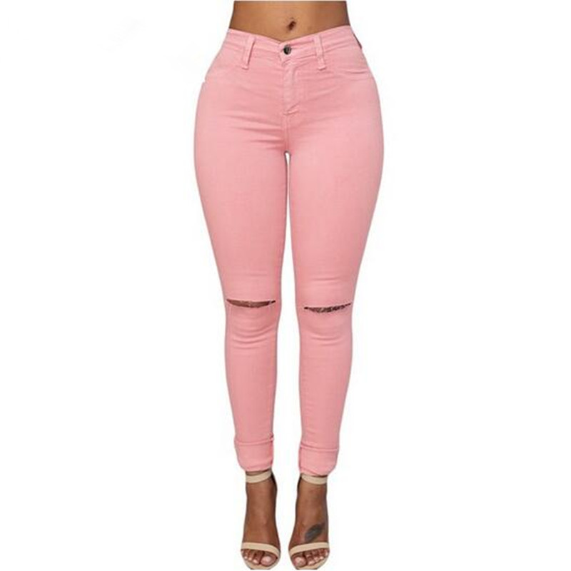Aliexpress.com : Buy Adogirl Women Light Wash Ripped Skinny Jeans