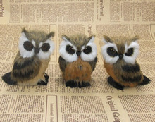 3 pieces a lot small cute creative simulation owl toys polyethylene&fur dolls gift about 12cm