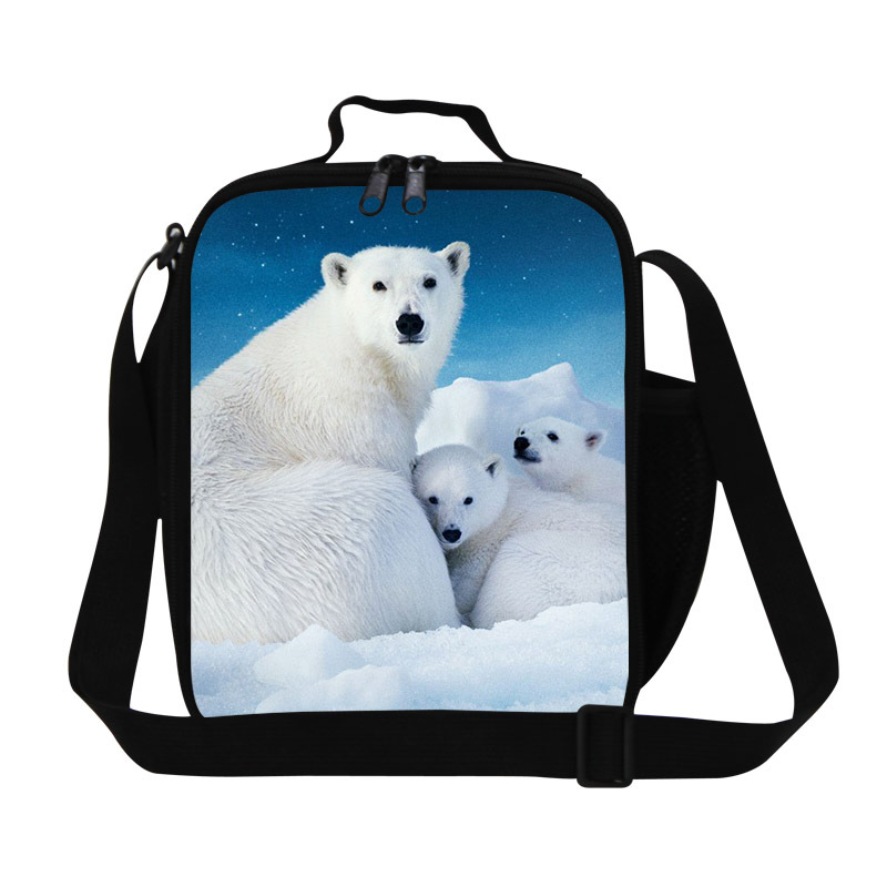 Fashion Bear print girl lunch bags fresh healthy lunch box for kids,insulated bags for food,thermal picnic bag for women travel