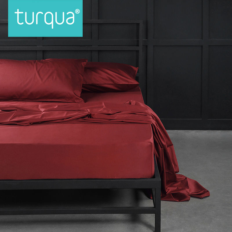 turqua high thread count 3 pcs 100 egyptian cotton solid flat sheet set including 1