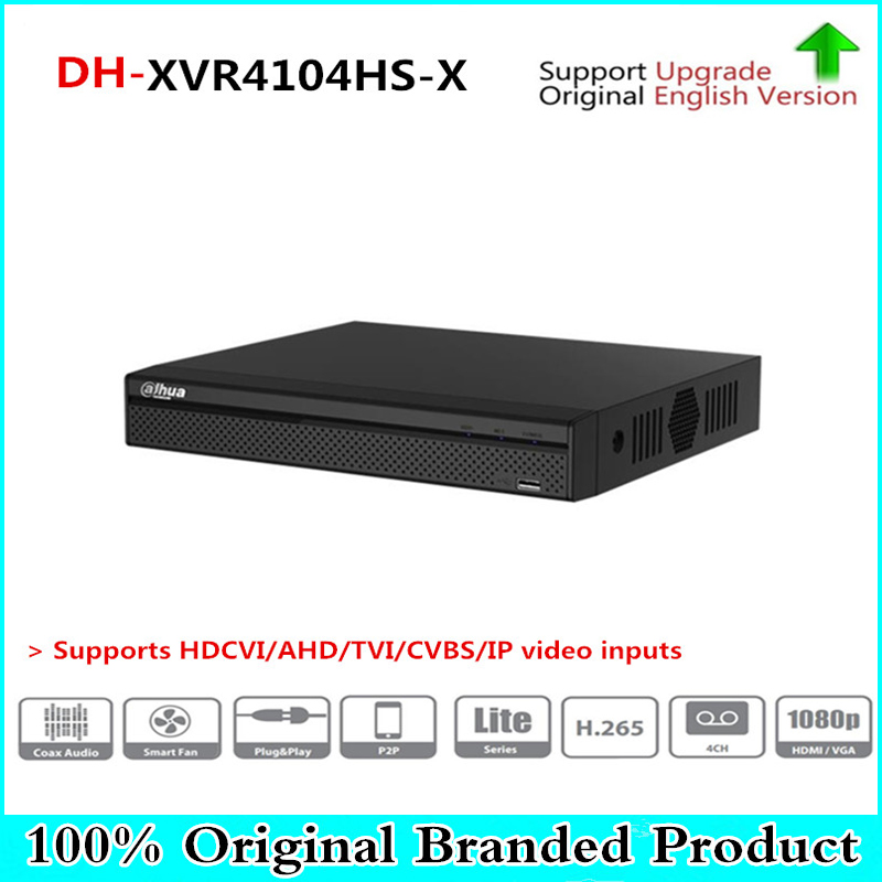 DH Multi-Language DVR XVR 4 CH Penta-brid 720P Compact 1U Digital Video Recorder Supports HDCVI/AHD/TVI/CVBS/IP XVR4104HS-X dahua xvr video recorder 16ch 1080p replace nvr and dvr dh xvr7216an p2p support hdcvi ahd tvi cvbs ip 1u digital video recor