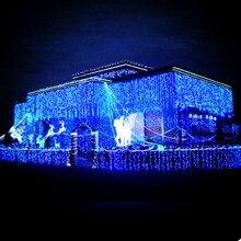Новогодняя светодиодная Рождественская гирлянда 4x0,6 м, украшение гирляндами светодиодный Рождественский свет, наружные рождественские огни