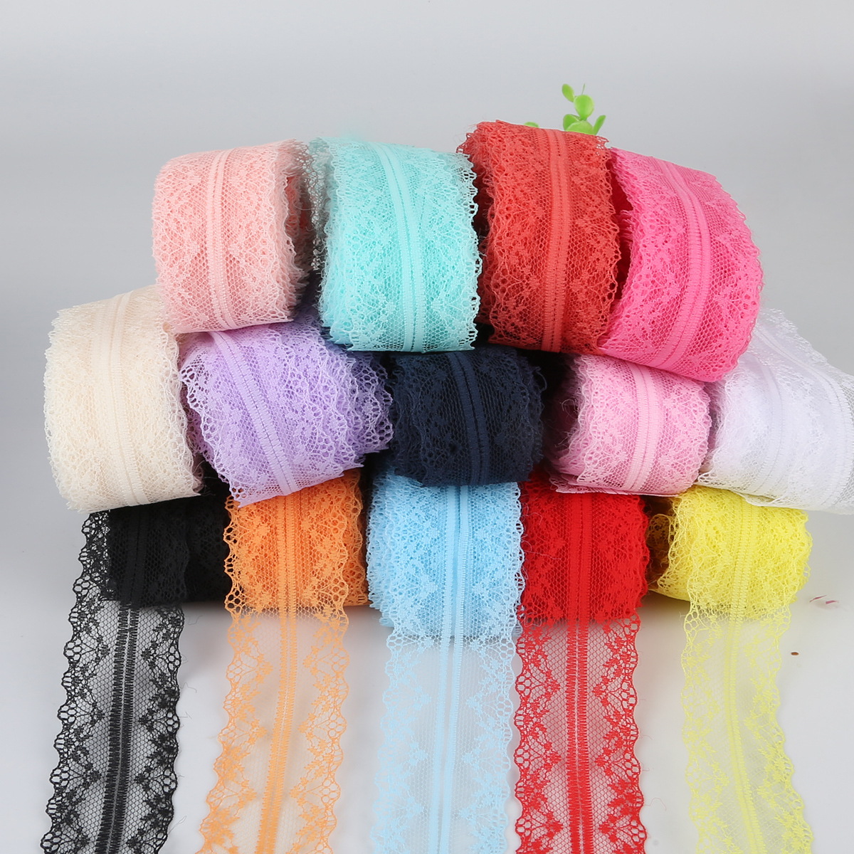 10 ярдов/рулон белая кружевная ткань тонкая лента для украшения упаковочный материал каркаса 4 см DIY Одежда с вышивкой одежда аксессуары