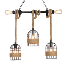 retro loft lamps vintage hemp rope pendant lights industry wind pub bar cafe restaurant living room stair corridor light 1pc iron glass pendant lights retro living room restaurant corridor balcony garden personality pendant lamps za