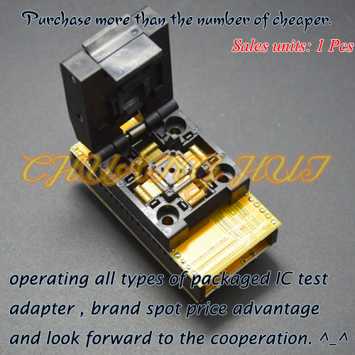 TQFP48 to DIP48 Programmer adapter QFP48 ic test socket (1pin to 1pin) Pitch=0.5mm Size=7mmX7mm 9mm*9mm tqfp48 to dip48 programmer adapter qfp48 ic test socket 1pin to 1pin pitch 0 5mm size 7mmx7mm 9mm 9mm