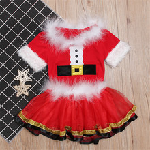 New Years Family Christmas Pajamas Costumes Toddler Baby Girls Christmas Dress Outfits Party Cosplay