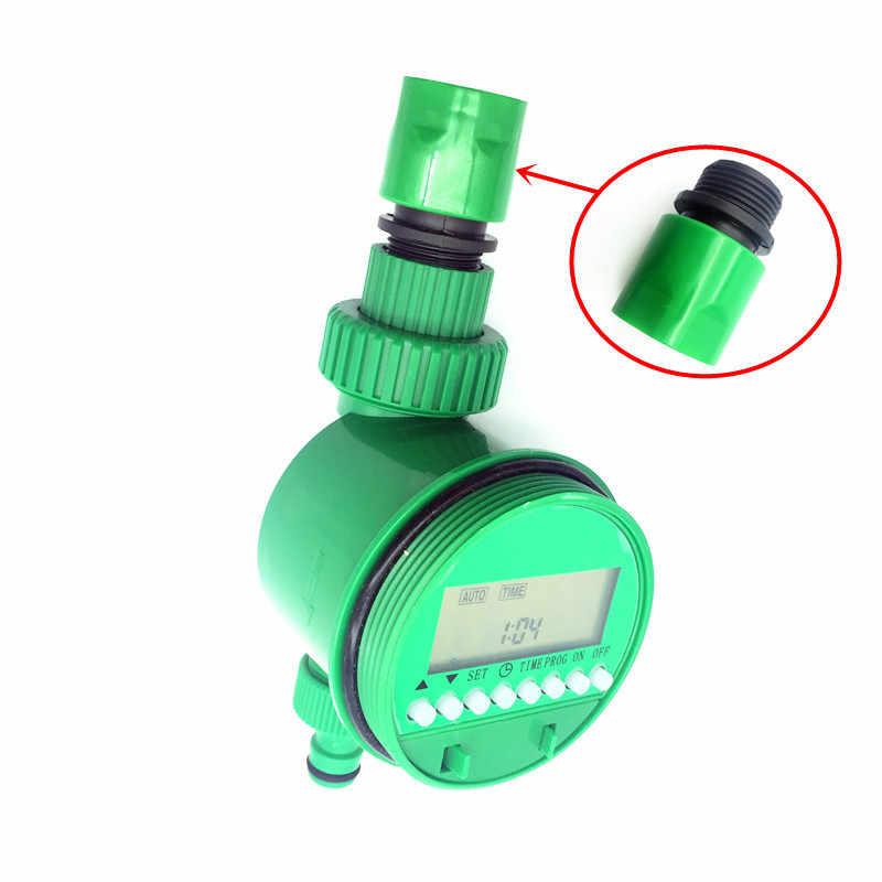 1 takım (7 adet) ev bahçe sulama damla zamanlayıcı boru Splitter 4 yollu musluk konnektörler hızlı bağlantı 3/4 vida iplik arayüzü