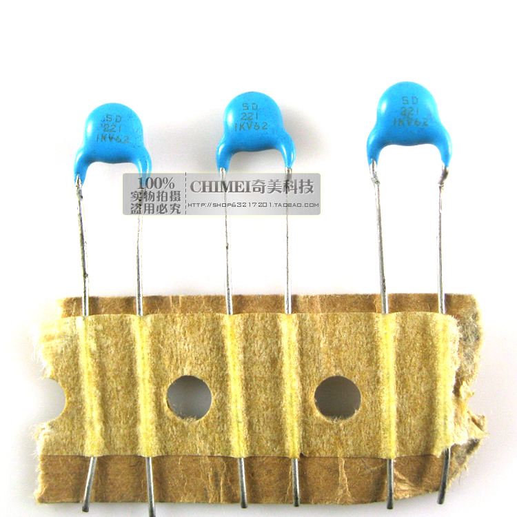 Ceramic capacitors 1KV 221 capacitor commonly used in high-stability oscillation circuit