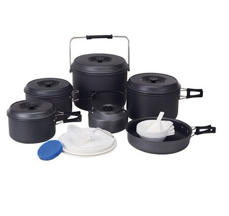 12 Person Camping Cookware Outdoor Pot Set Hiking Cooking Set Picnic Pot BL200-C10