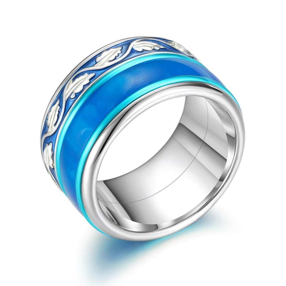 Cremo Spinner แหวนผู้หญิง Stackable แหวนสแตนเลสแหวน Arctic Symphony Collection งานแต่งงาน Femme